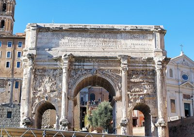 Arch of Septimius Severus in the Roman Forum, Rome – Italy
