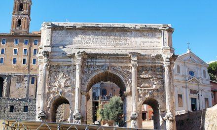 Arch of Septimius Severus in the Roman Forum, Rome – Italy