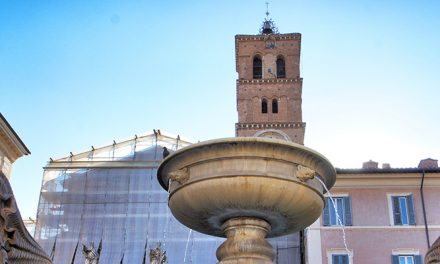 Fountain in Piazza di Santa Maria in Trastevere