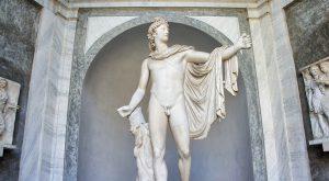 Apollo del Belvedere Statue Vatican Museums Rome