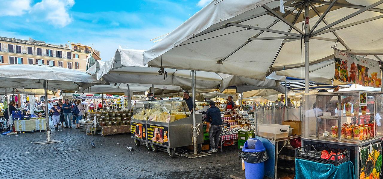 e4e3f921f5958 Campo de  Fiori Market Rome  Location and Hours