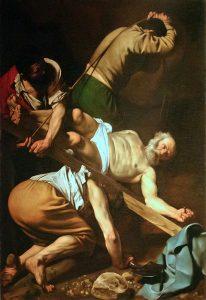 Canova's Crucifixion of St. Peter Cerasi Chapel Santa Maria del Popolo