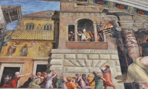 Fire of Borgo By Raphael Vatican Museums