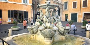 fountain of turtles piazza mattei rome ghetto
