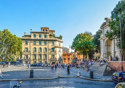Gianicolo Hill Overlooking Rome Roma Wonder