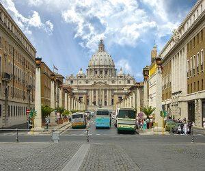 St Peter's Basilica from Via della Conciliazione
