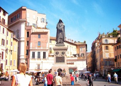 The Statue of Giordano Bruno in Campo de' Fiori