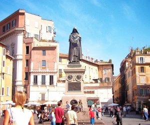 Giordano Bruno Statue in Campo de Fiori Rome