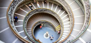 Vatican Museum, spiral staircase