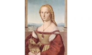 Young Woman with Unicorn by Raphael