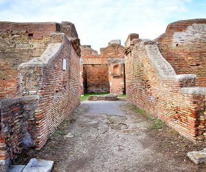 Ancient Ostia Excavations Rome Italy