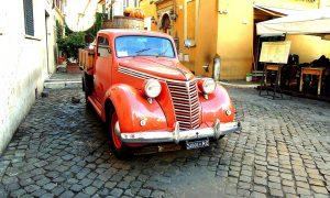 Rome cobblestone street