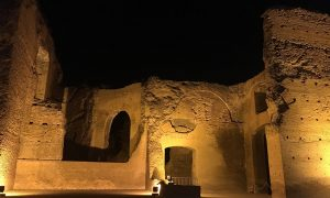 Baths of Caracalla by night Rome