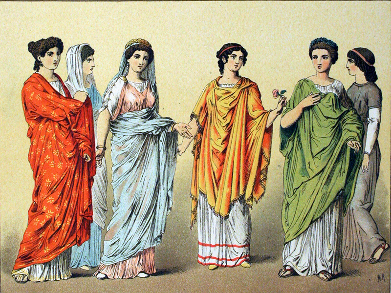 In Ancient Rome What You Wore Clearly Identified Your Social Class Men Women Young People And Slaves Completely Different Kinds Of Clothing